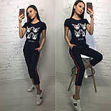 Стильная женская футболка на лето модный принт S/M/L/XL, фото 8