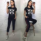 Стильная женская футболка на лето модный принт S/M/L/XL, фото 9