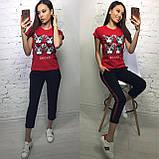 Стильная женская футболка на лето S/M/L/XL, фото 5