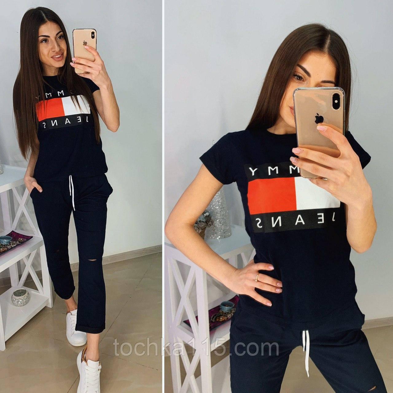Стильный женский комплект TH, турецкий трикотаж S/M/L/XL