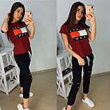 Стильный женский комплект TH, турецкий трикотаж S/M/L/XL, фото 2