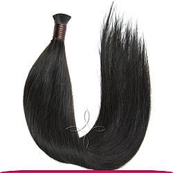 Натуральные Славянские Волосы в Срезе 60 см 100 грамм, Черный №1В