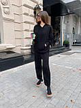 Теплый, мягкий женский костюм, (оверсайз), цвет серый, фото 2