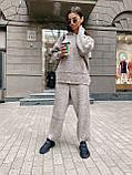 Теплый, мягкий женский костюм, (оверсайз), цвет серый, фото 7