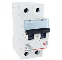Автоматический выключатель 2-полюсный Legrand TX3 32A 2Р 6кА тип «C»
