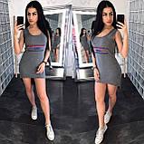 Летнее платье для прогулок Fendi, турецкий трикотаж S\M\L, фото 5