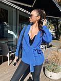 Женский уютный, комфортный кардиган, 42-48р, цвет т-синий, фото 3