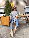 Женский уютный, комфортный кардиган, 42-48р, цвет т-синий, фото 8