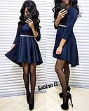 Стильное нежное платье крепдайвинг, S/M, фото 3