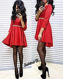 Стильное нежное платье крепдайвинг, S/M, фото 2