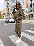 Трендовый женский костюм, очень теплый, (S/M), цвет бежевый, фото 6
