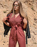 Потрясающий женский комбинезон, лен 42-44, 46-48 рр, джинс, фото 2