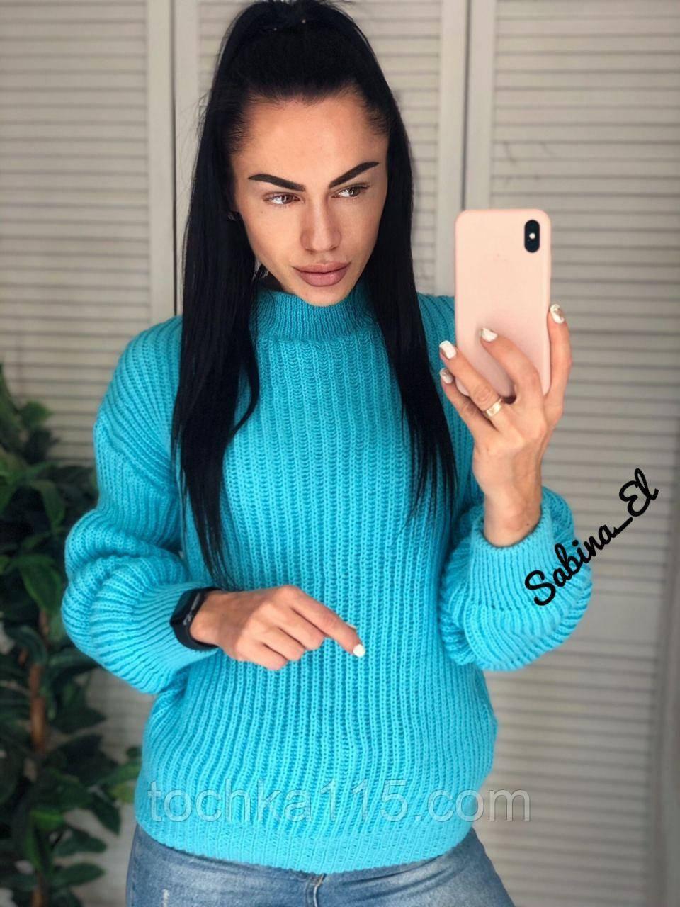 Універсальний жіночий светр, теплий, 42-48 р, колір березовий