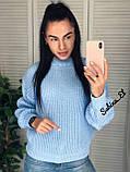 Універсальний жіночий светр, теплий, 42-48 р, колір березовий, фото 2
