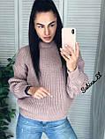 Універсальний жіночий светр, теплий, 42-48 р, колір березовий, фото 3