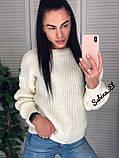 Універсальний жіночий светр, теплий, 42-48 р, колір березовий, фото 5