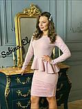 Стильне класичне плаття з креп дайвінг з набивним гіпюром S/M/L/XL, фото 3