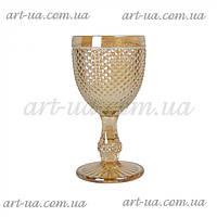 """Декоративный бокал из крашенного стекла """"Versailles"""" светлое золото, бокал цветной, бокал декоративный"""