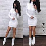 Красивое вязанное Платье-гольф, подчеркнет достоинства, 42-48 р, цвет черный, фото 3