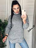 Супер стильний жіночий светр, 42-48 р, колір блакитний, фото 2