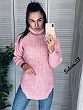 Супер стильний жіночий светр, 42-48 р, колір блакитний, фото 6