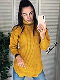 Супер стильний жіночий светр, 42-48 р, колір блакитний, фото 7