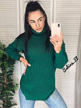 Супер стильний жіночий светр, 42-48 р, колір блакитний, фото 8