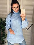 Супер стильный женский свитер, 42-48 р, цвет горчичный, фото 3
