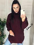Супер стильный женский свитер, 42-48 р, цвет горчичный, фото 6