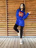 Теплое стильное женское худи, флис, 42-44, 46-48рр, цвет бежевый, фото 2