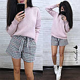 Стильный вязаный свитер, очень теплый, 42-46 рр, цвет бордо, фото 3