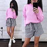 Стильный вязаный свитер, очень теплый, 42-46 рр, цвет бордо, фото 5