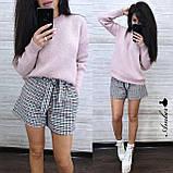 Стильный вязаный свитер, очень теплый, 42-46 рр, цвет лиловый, фото 4