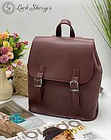 Женский рюкзак 013 бордо, женские рюкзаки купить оптом недорого в Украине, фото 1