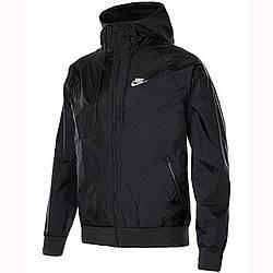Ветровка мужская Nike с капюшоном черная M NSW SCE WR JKT HD