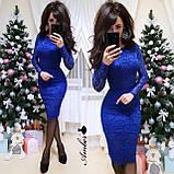 Потрясающее женское платье, ткань гипюр, S/M/L, белый, фото 2