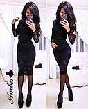 Потрясающее женское платье, ткань гипюр, S/M/L, белый, фото 4