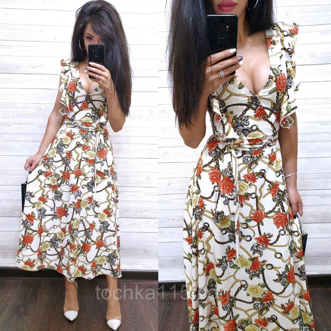 Літнє жіноче плаття, тканина софт, S/M/L, колір білий