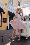Красивое легкое платье, ткань штапель, S/M/L, цвет темно-синий с розовыми цветочками, фото 2