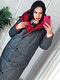 Трендовый женский двухсторонний пуховик, 42-48р, цвет розовый/мокко, фото 6