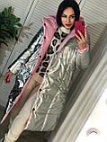 Трендовый женский двухсторонний пуховик, 42-48р, цвет розовый/мокко, фото 8