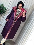 Трендовый женский двухсторонний пуховик, 42-48р, цвет розовый/мокко, фото 10