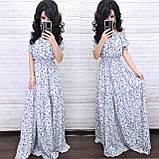 Женственное стильное платье, ткань софт, 42-44, 46-48, 50-52 рр, цвет темно-синий, фото 3