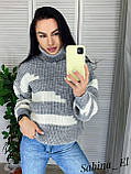 Теплый женский свите, комфортный и приятный к телу, 42-46 р, цвет лиловый, фото 5