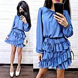 Классическое нежное платье, ткань шифон, 42-44, 46-48 рр, черный, фото 3