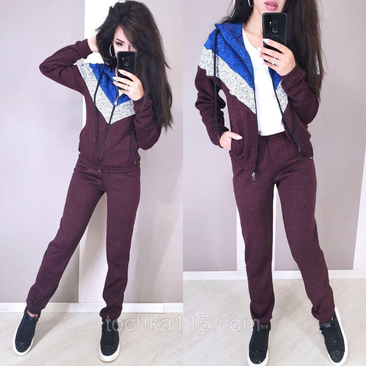 Женский спортивный костюм, костюм для прогулок, S/M/L (бордо)