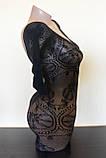 Сексуальна боді сітка боди-сетка с рисунком в упаковке бодистокинг эротическое белье, фото 4