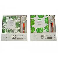 """Набор из недатированного ежедневника, ручки 6 цветов, маркерной ленты """"Tropical"""" 18,5х12,5см, линия, на 100"""