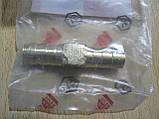 Соединитель Двойник 12х12мм шлангов зубчатый латунь длина 55мм переходник автомобильный Белебей №9 для на авто, фото 4