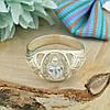 Серебряное кольцо Индира размер 19 вставка белые фианиты вес 3.95 г, фото 2
